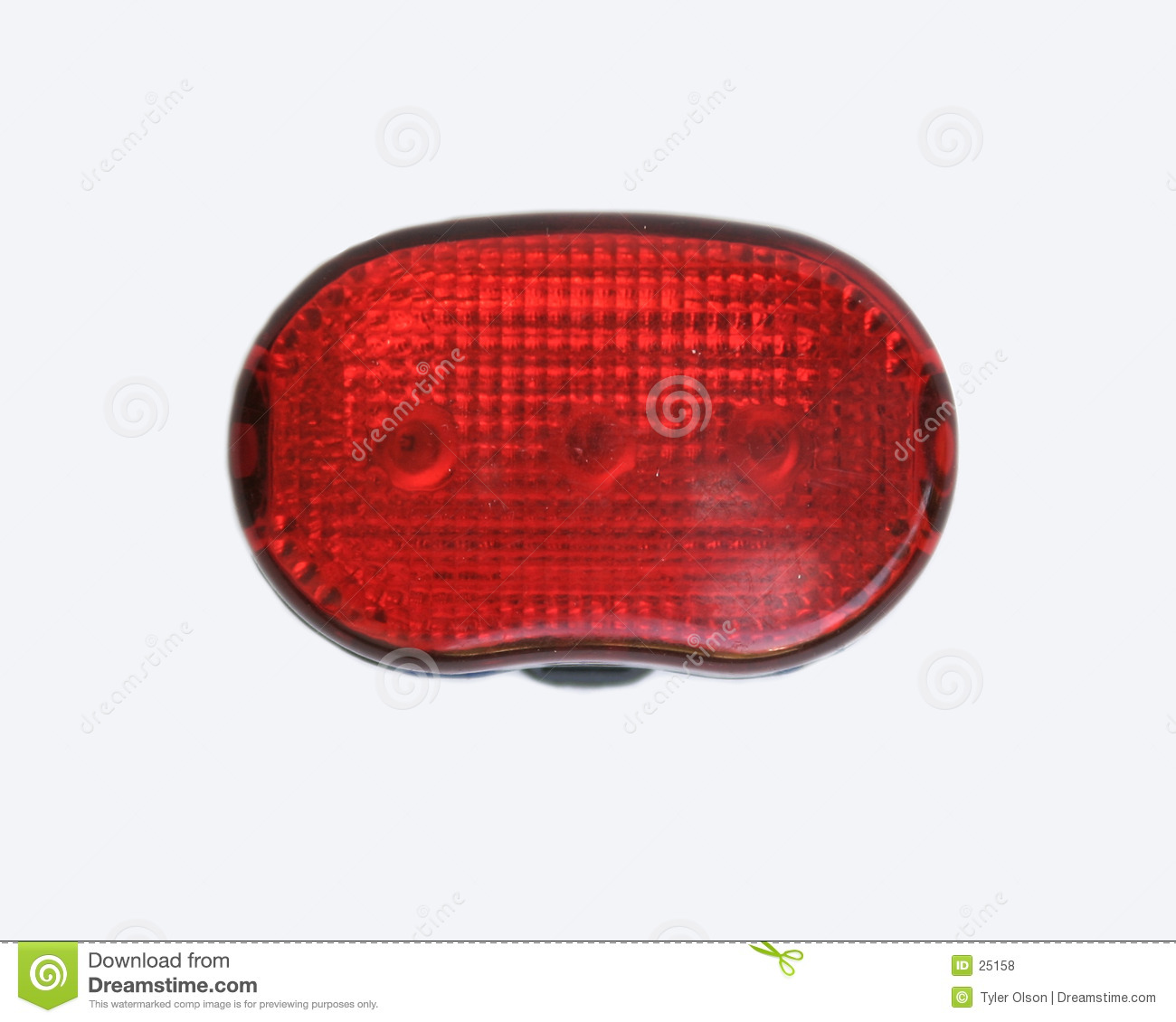 Rear Bike Lamp Isolated on White