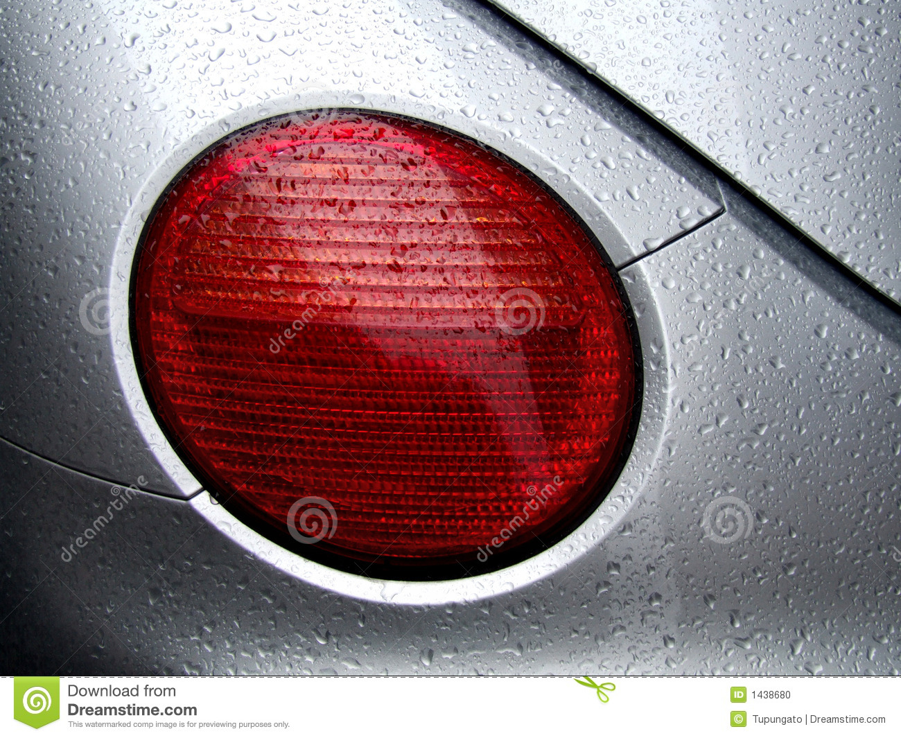 Auto Paint Prices >> Rear Car Light And Water Dew Drops Stock Photo - Image: 1438680