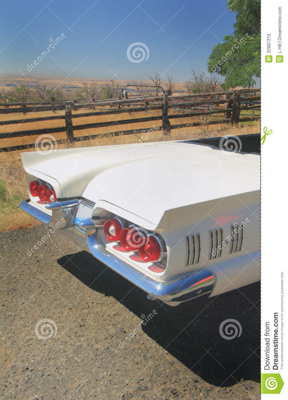 Rear End 1960 Ford Thunderbird Convertible Stock Image Image Of