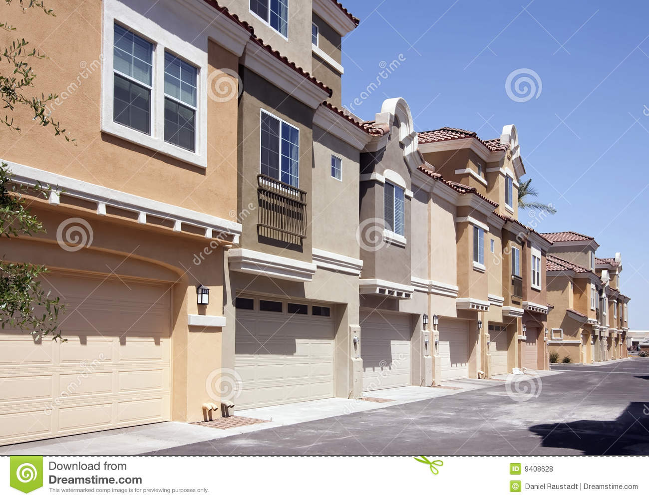 Swell Rear Entrances To Arizona Condo Homes Royalty Free Stock Photos Largest Home Design Picture Inspirations Pitcheantrous