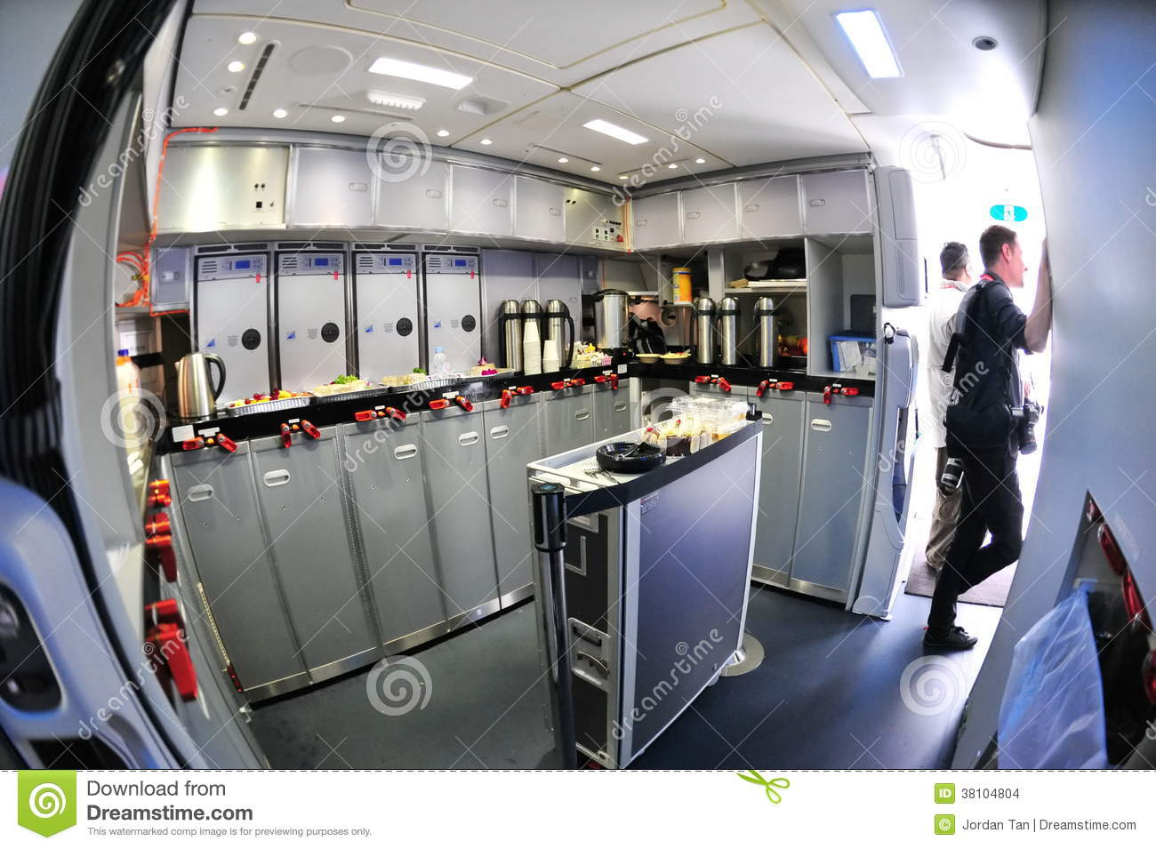 Rear Galley Of A Boeing 787 Dreamliner At Singapore