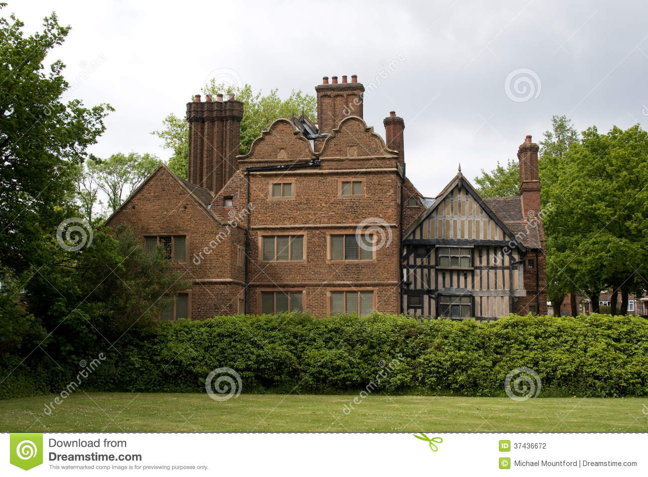 Rear Of Oak House West Bromwich England Stock Photo Image Of 16th Bricks 37436672