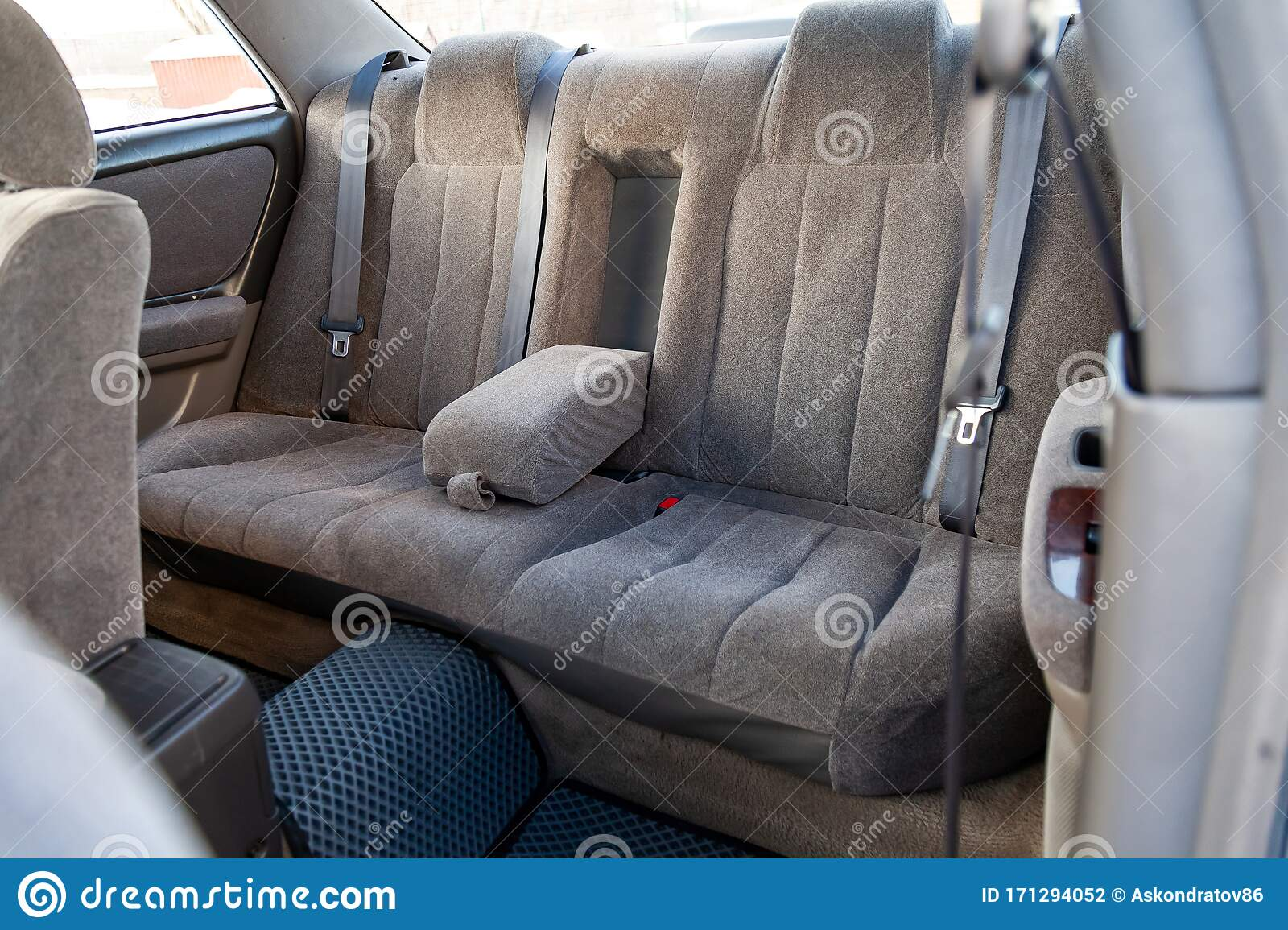Rear Seats With Velours Fabric Upholstery In The Interior ...