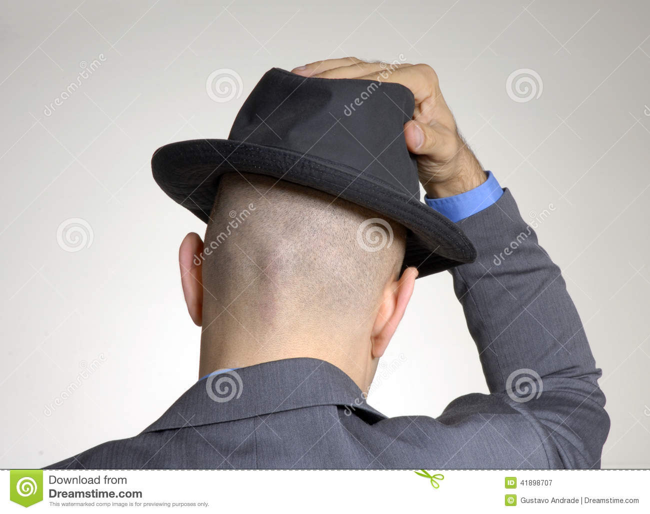 rear view from a bald head stock image image of head 41898707