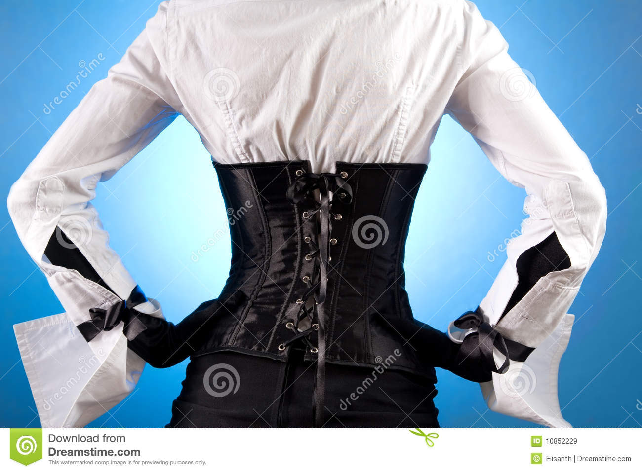 Rear View Of Beautiful Girl In Fashionable Clothes Royalty
