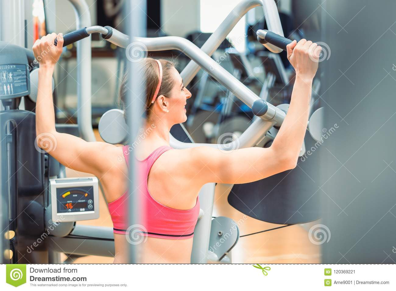 Rear View Of A Fit Woman With Toned Arms And Back Exercising At The Gym Stock Image Image Of Health Shoulders 120369221 7 day push up challenge. https www dreamstime com rear view fit woman toned arms back exercising gym rear view fit woman toned arms back wearing image120369221