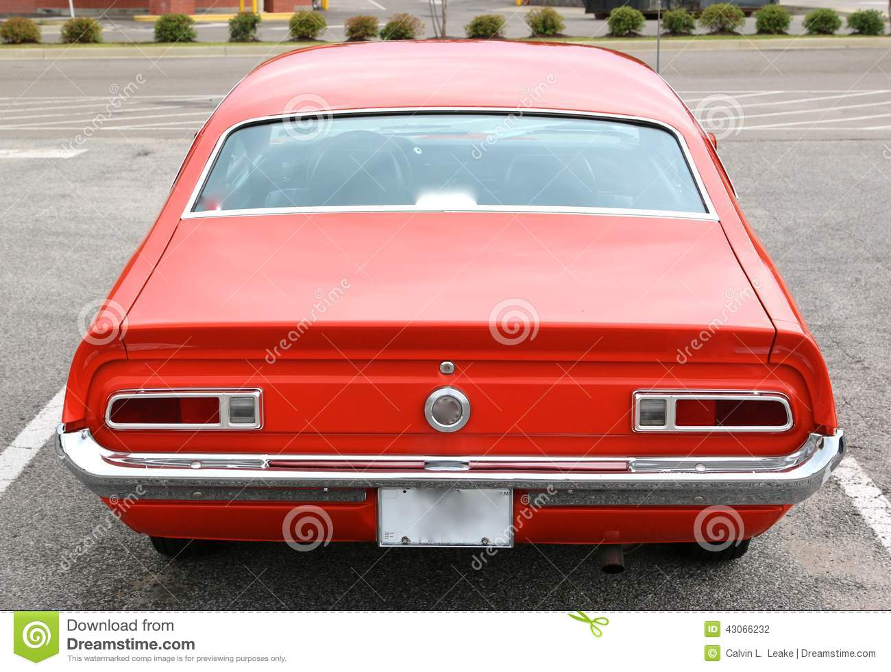 Rear View Of A 1965 Ford Maverick Antique Car Editorial