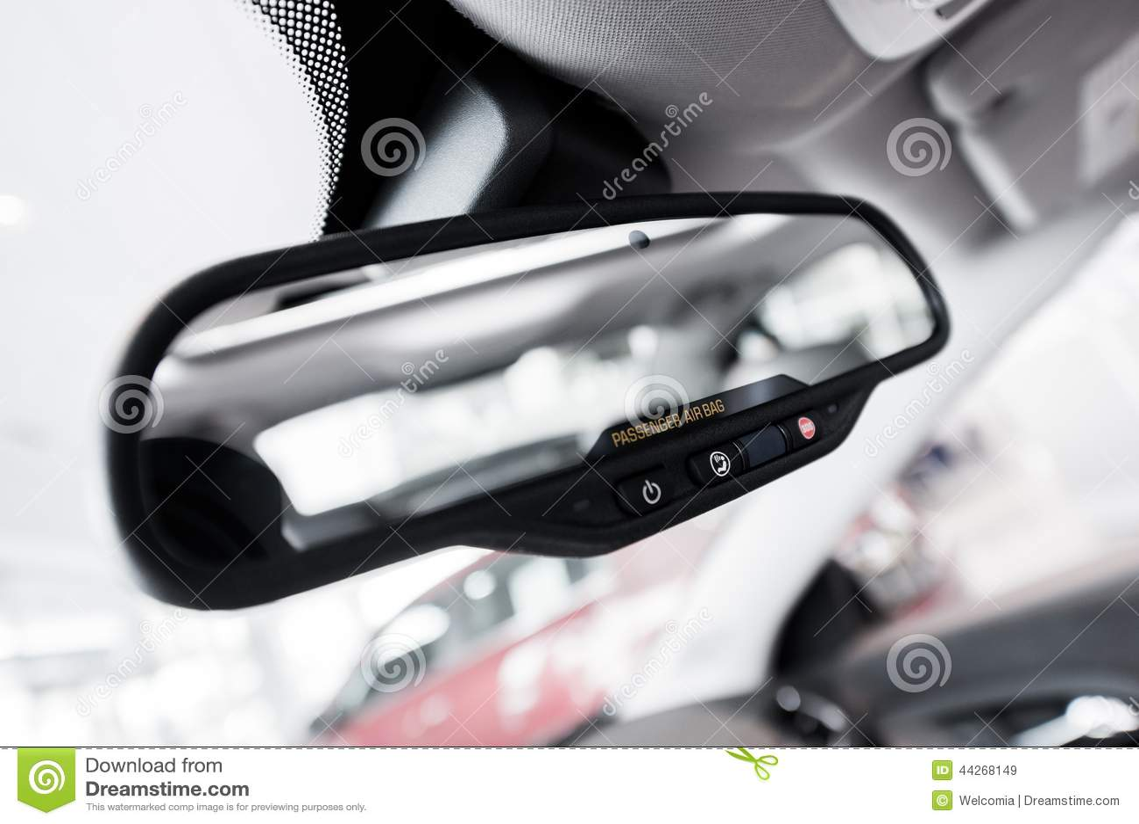 rear view interior car mirror stock illustration image 44268149. Black Bedroom Furniture Sets. Home Design Ideas