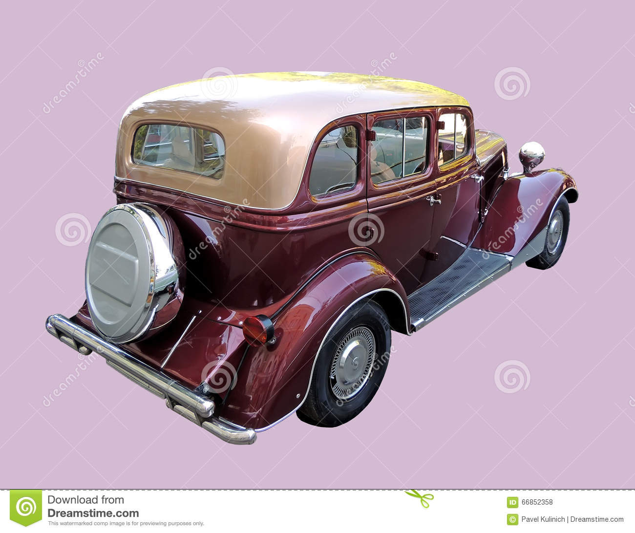rear view of retro car of 1930s stock photo image 66852358. Black Bedroom Furniture Sets. Home Design Ideas