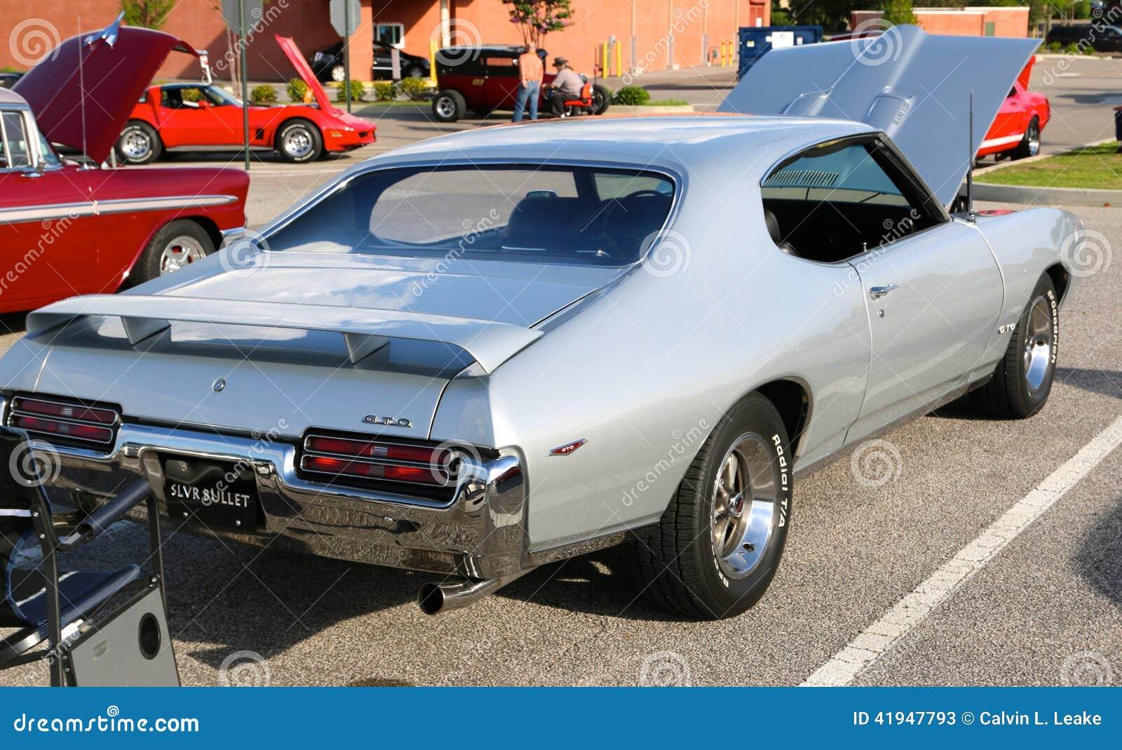 Rear View Of 1969 Silver Pontiac Gto Editorial Stock Photo