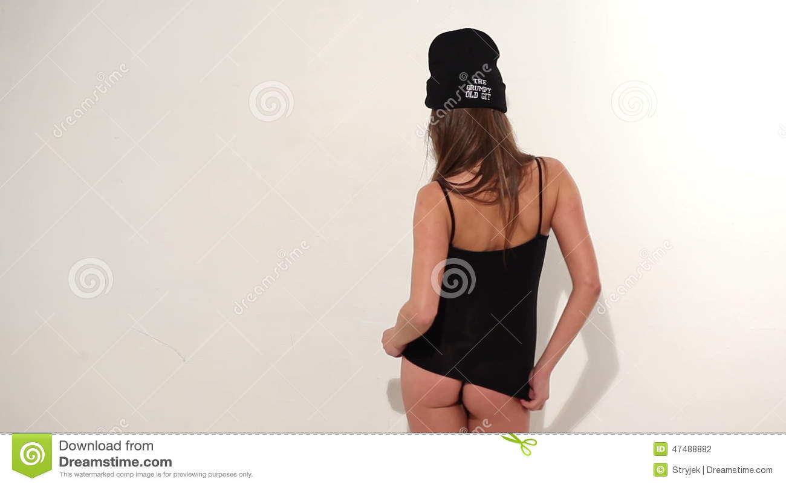 panties Black girl wearing white