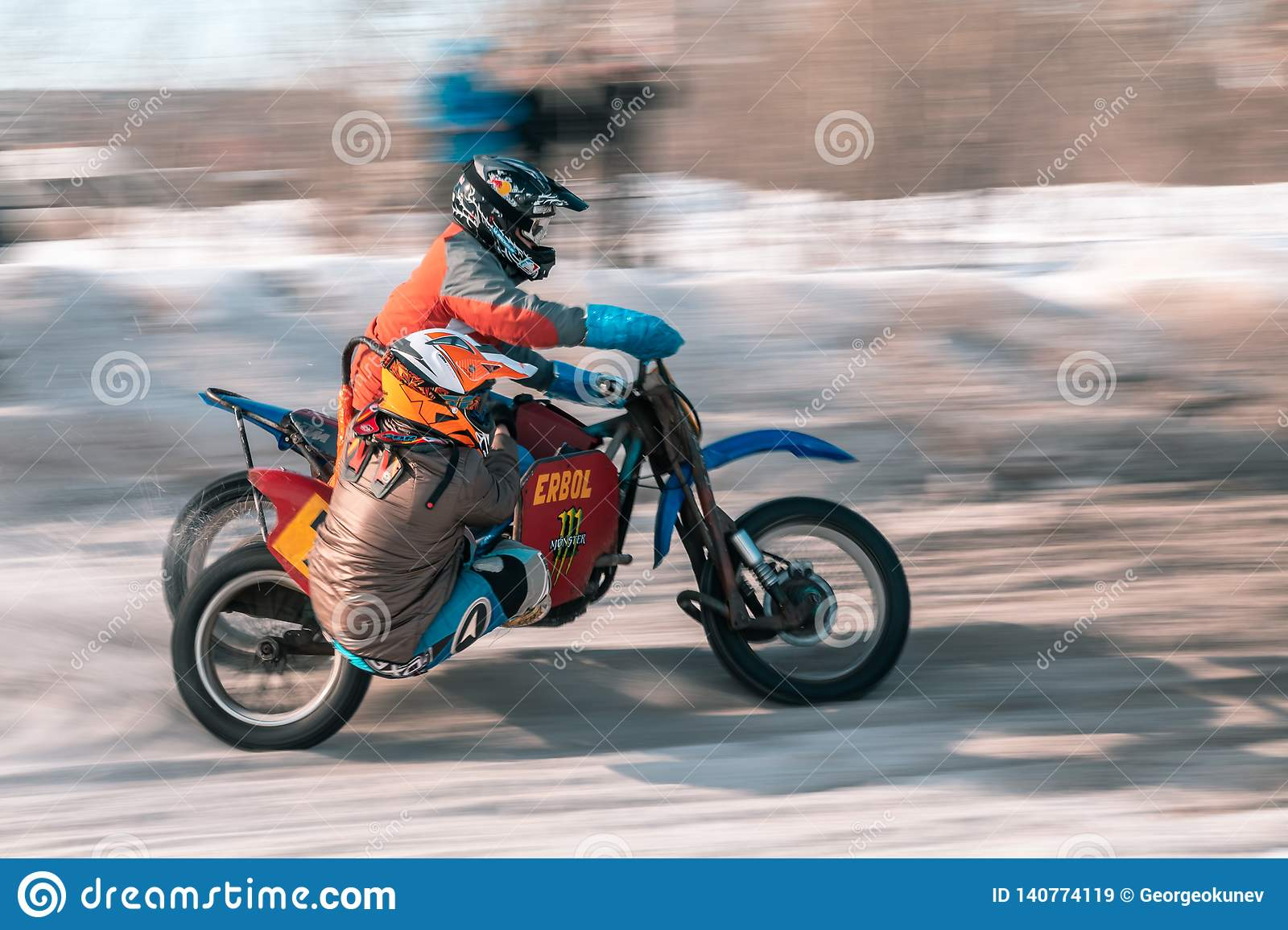 The rear wheel motocross bike