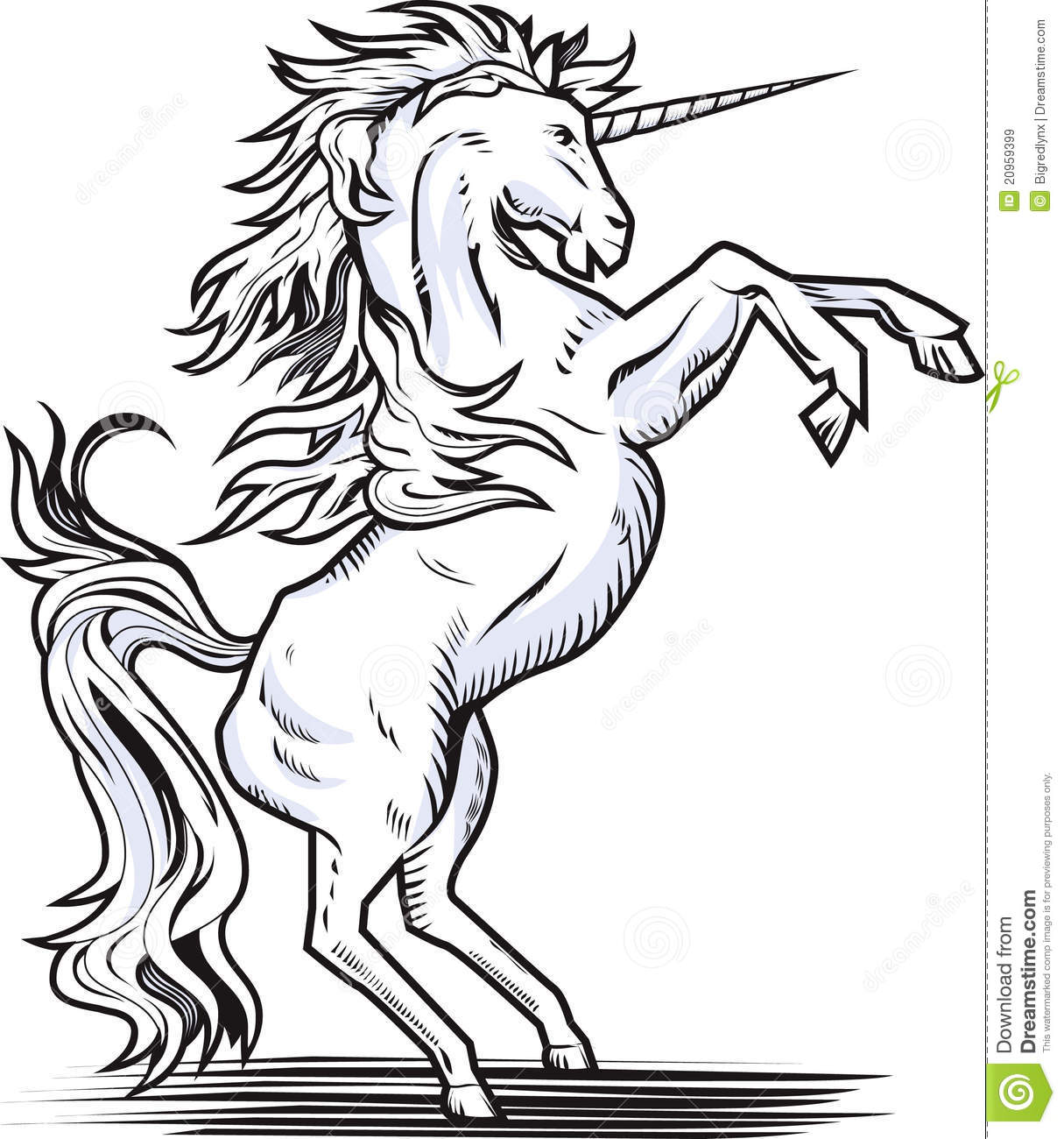 Jpg To Line Drawing : Rearing unicorn royalty free stock images image