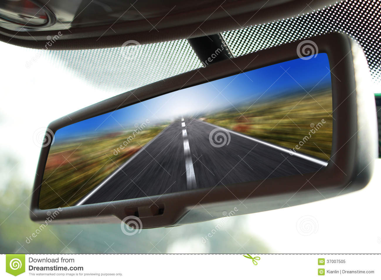 Rearview Mirror Traveling Stock Image Image Of Movement