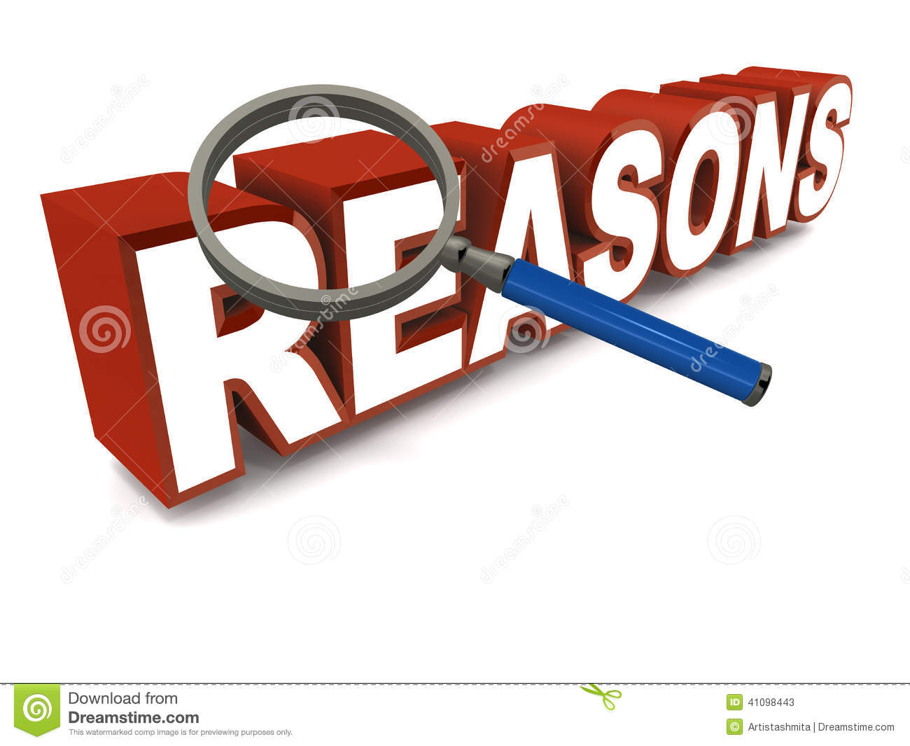 Reasons Stock Illustration Image 41098443