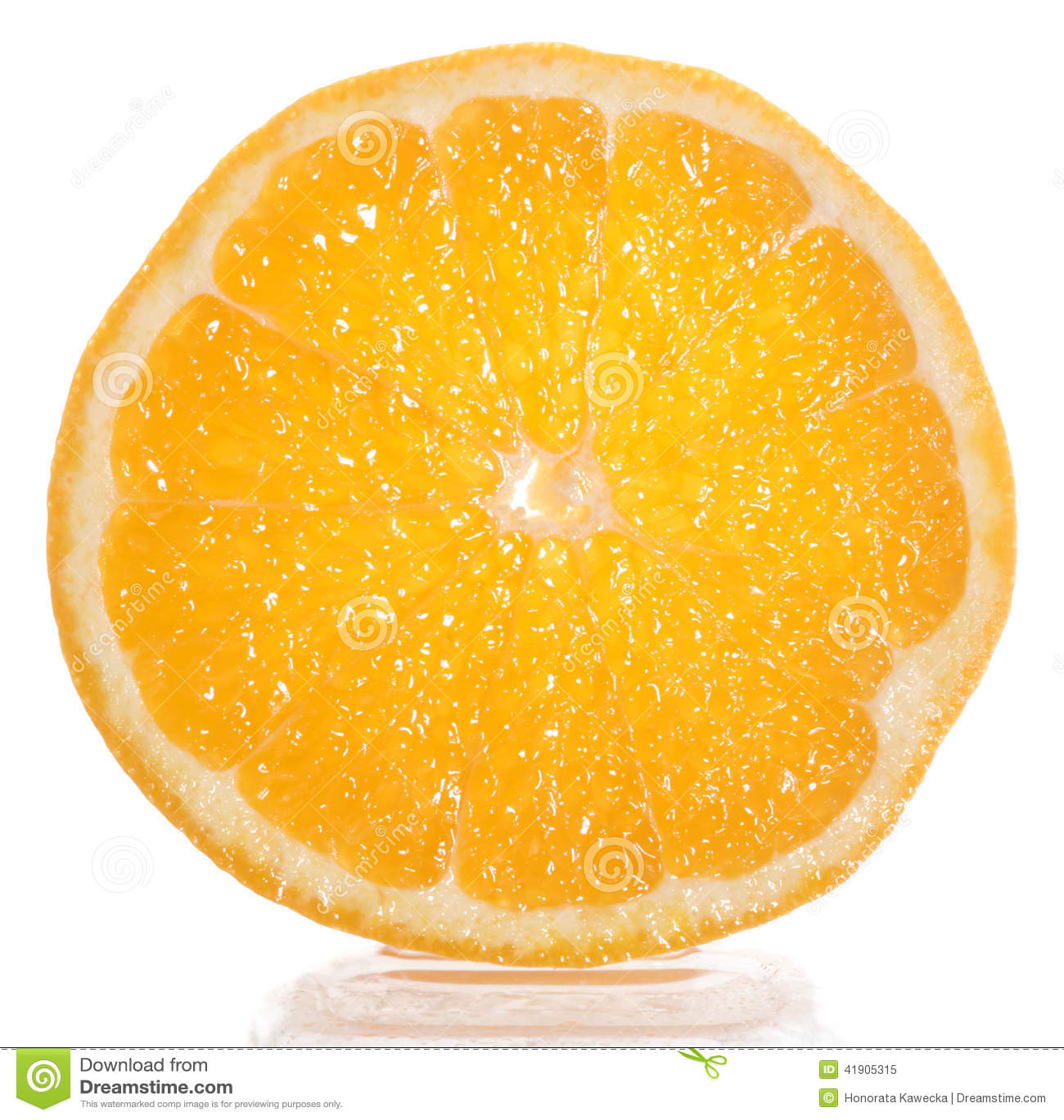 Rebanada de naranja fresca