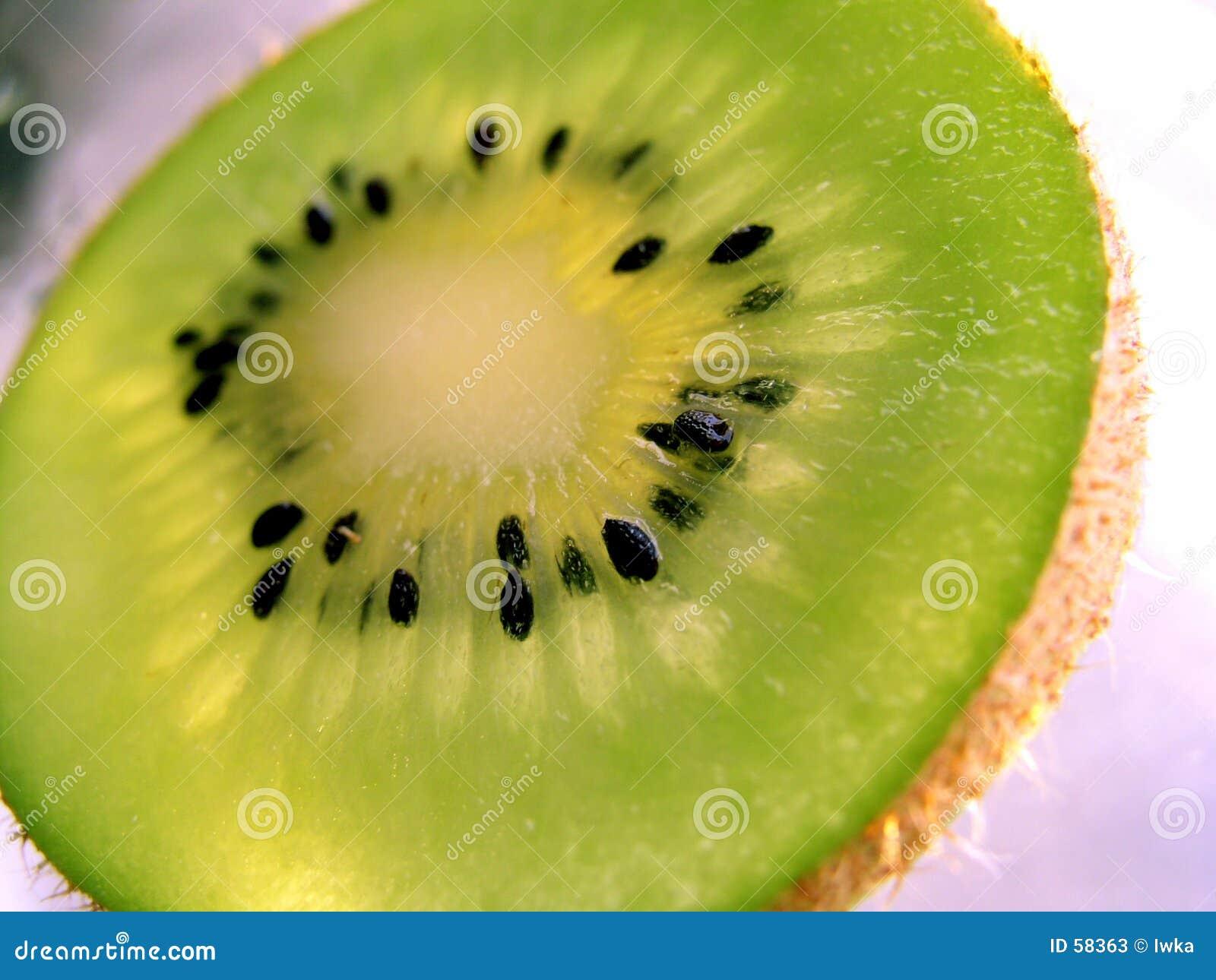 Rebanada del kiwi