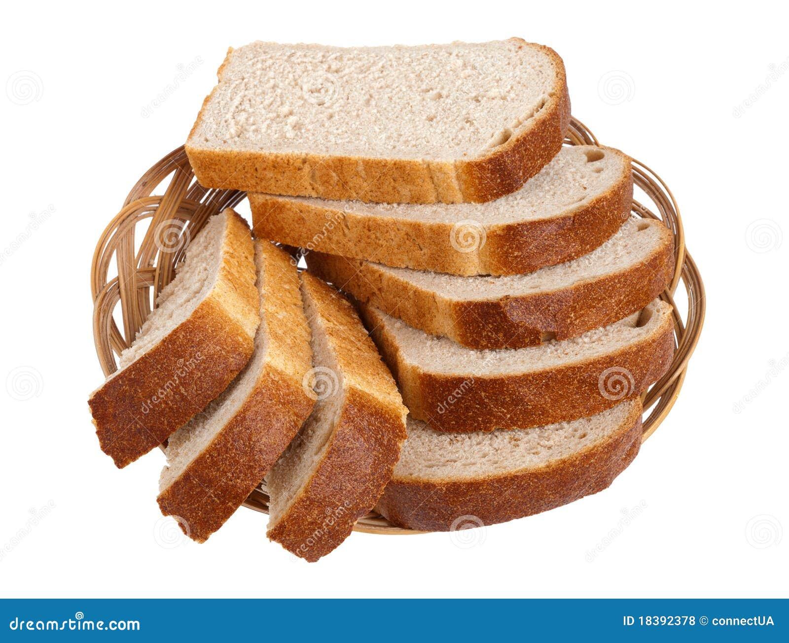 Rebanadas blancas del pan