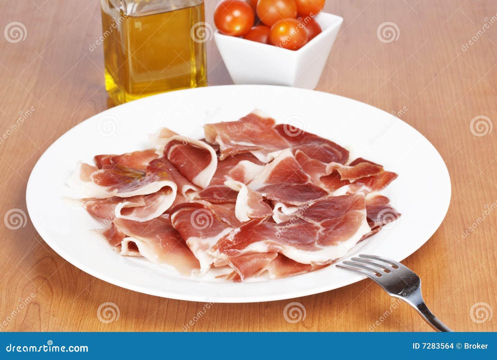 Rebanadas de jamón español