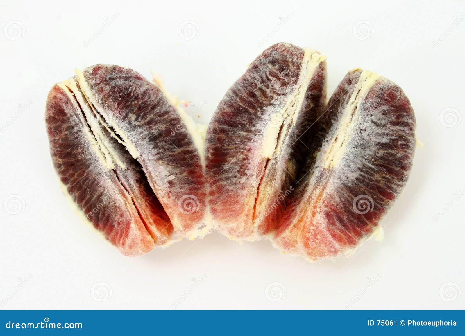 Rebanadas de la naranja de sangre