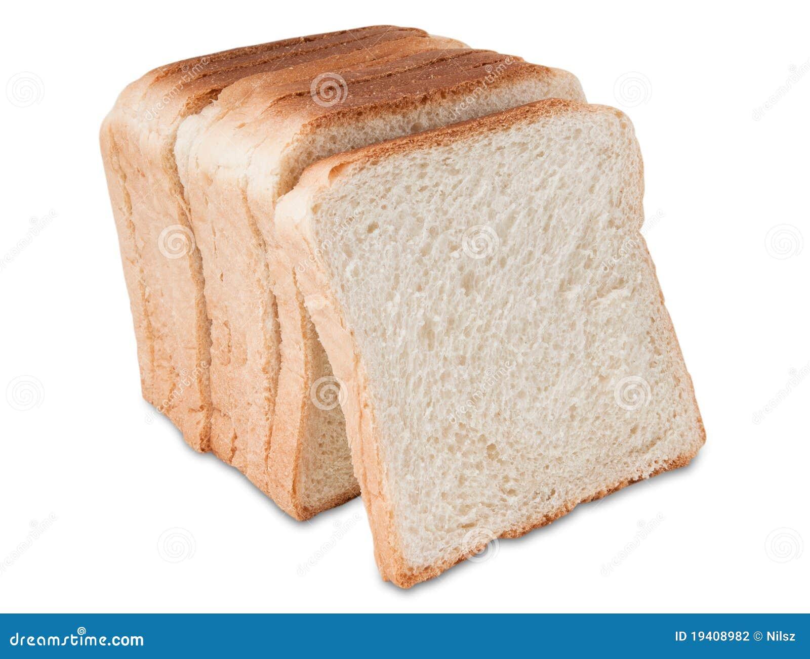 Rebanadas de la tostada del pan