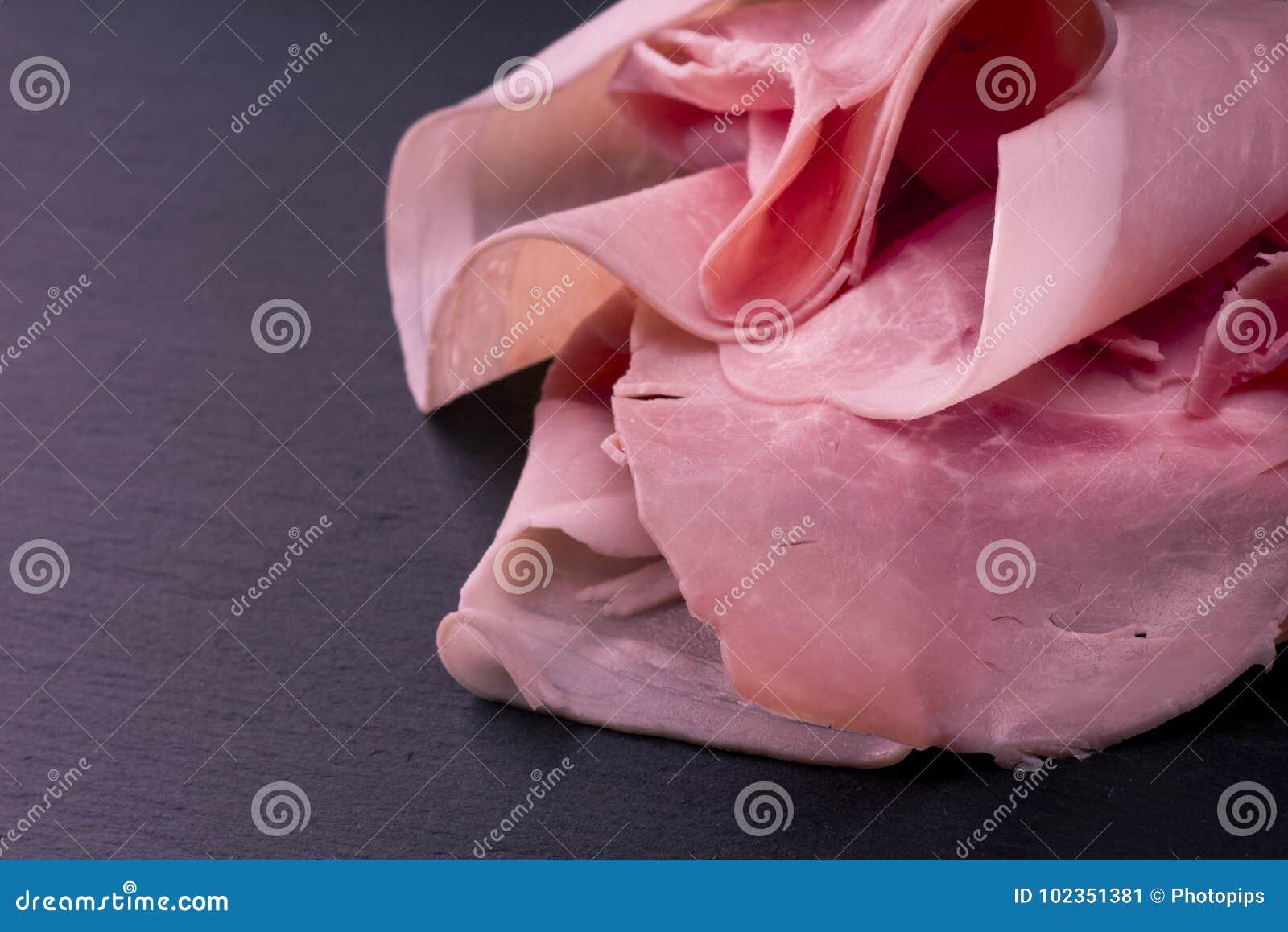 Rebanadas del jamón del cerdo