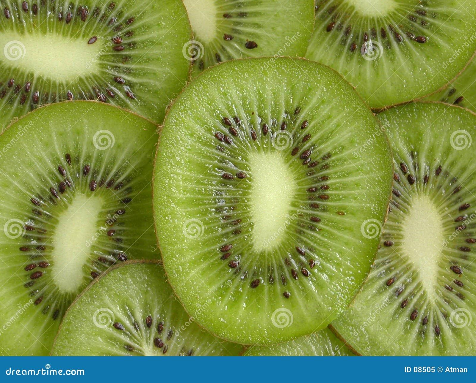 Rebanadas del kiwi