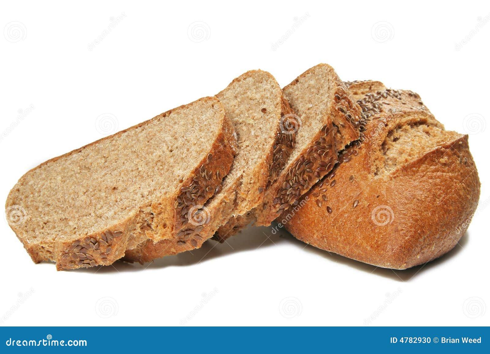 Rebanadas del pan del trigo