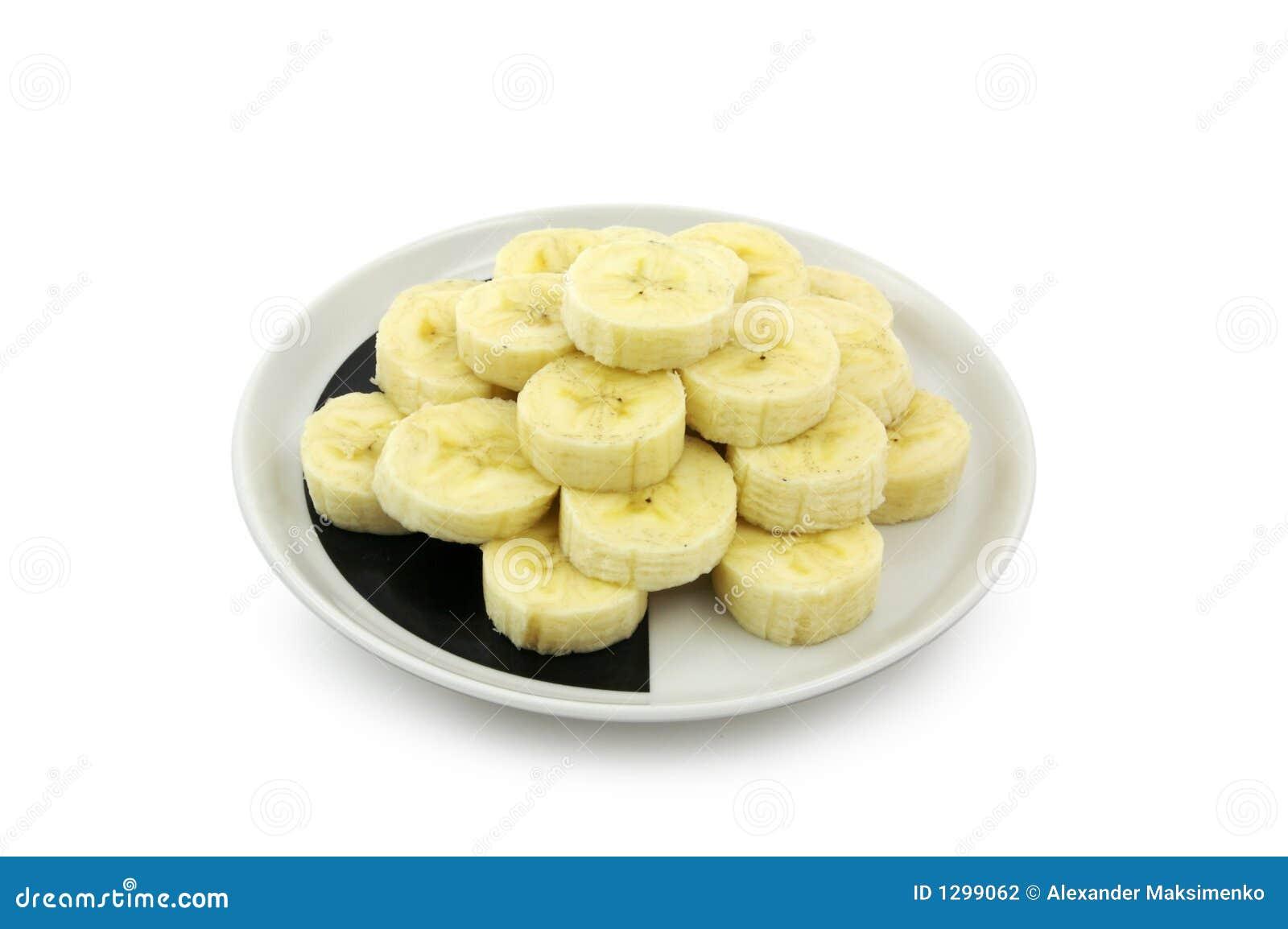 Rebanadas del plátano