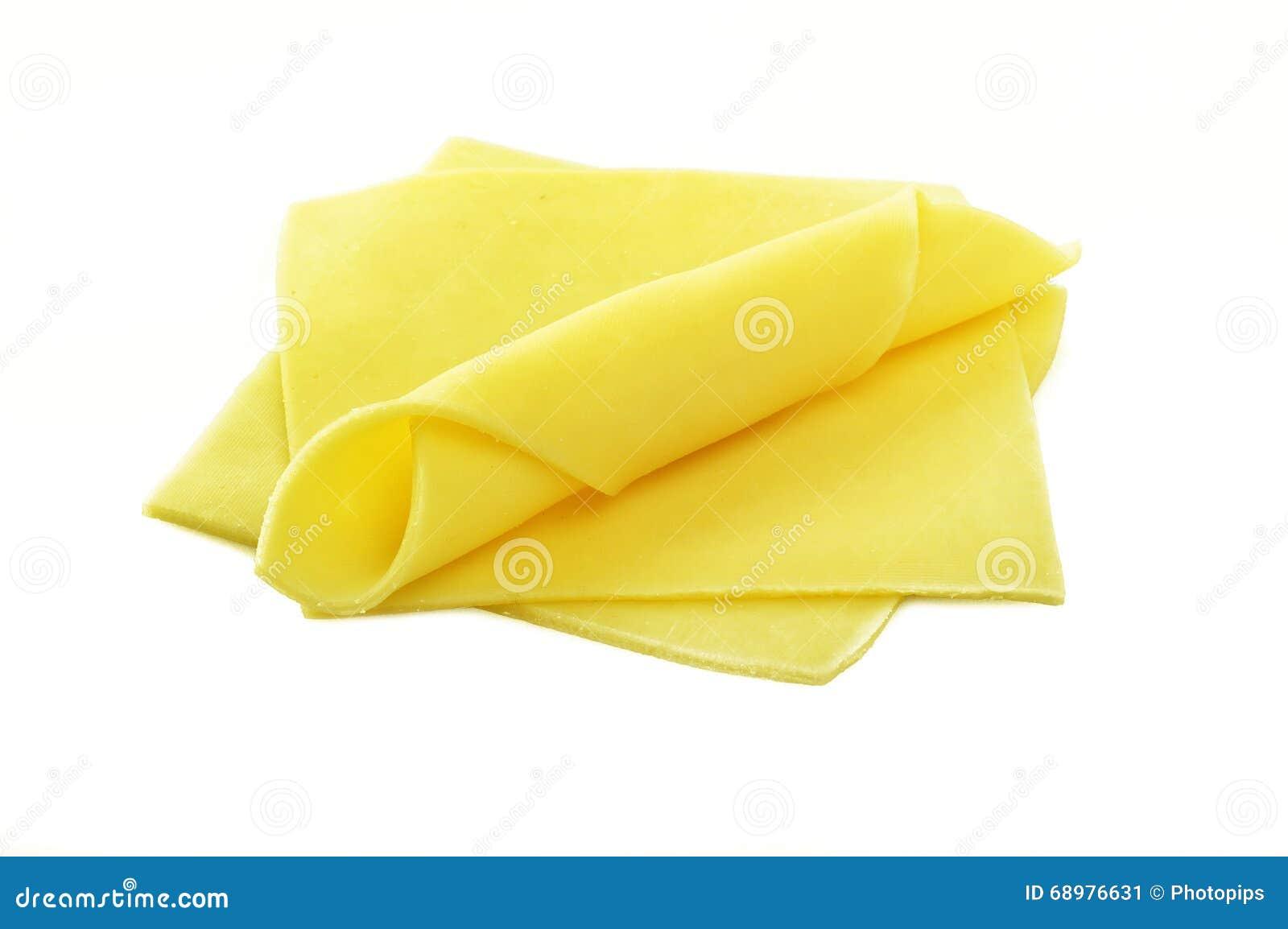 Rebanadas del queso suizo