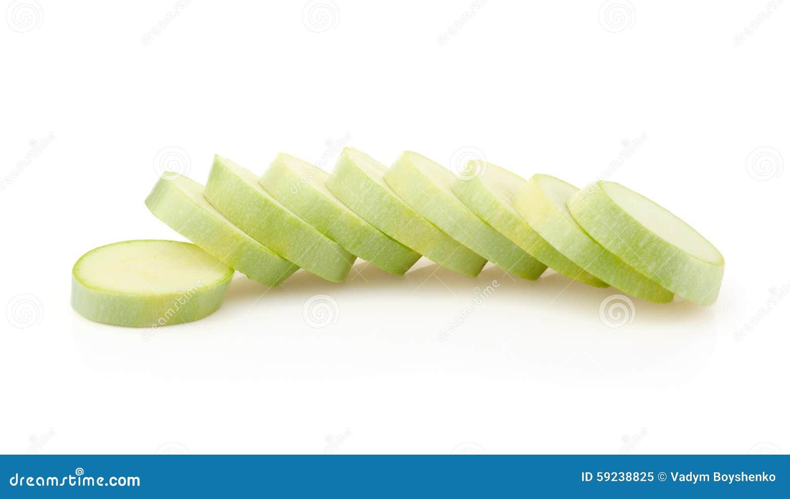 Rebanadas del tuétano vegetal
