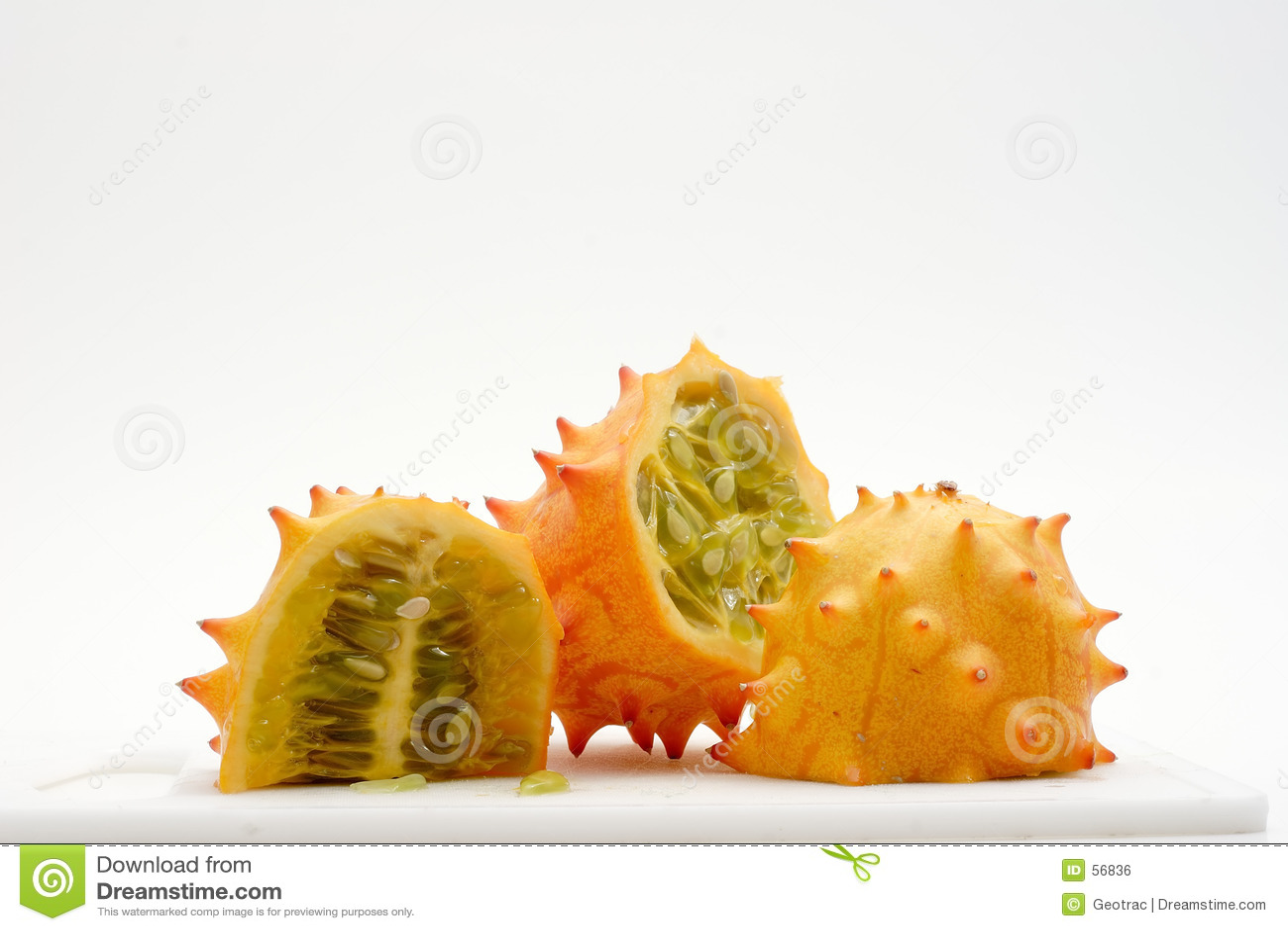 Rebanadas exóticas de la fruta