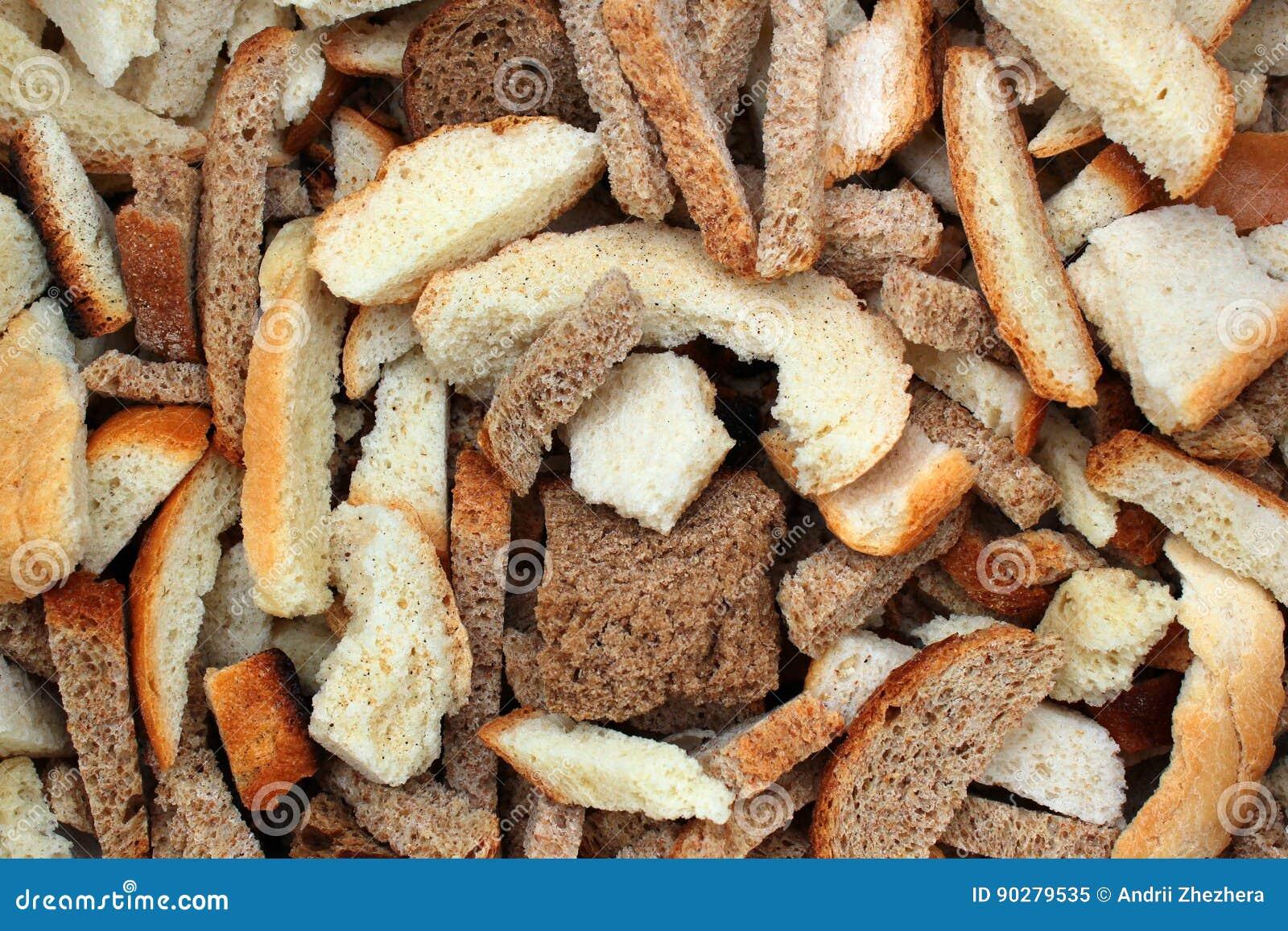 Rebanadas secas del pan