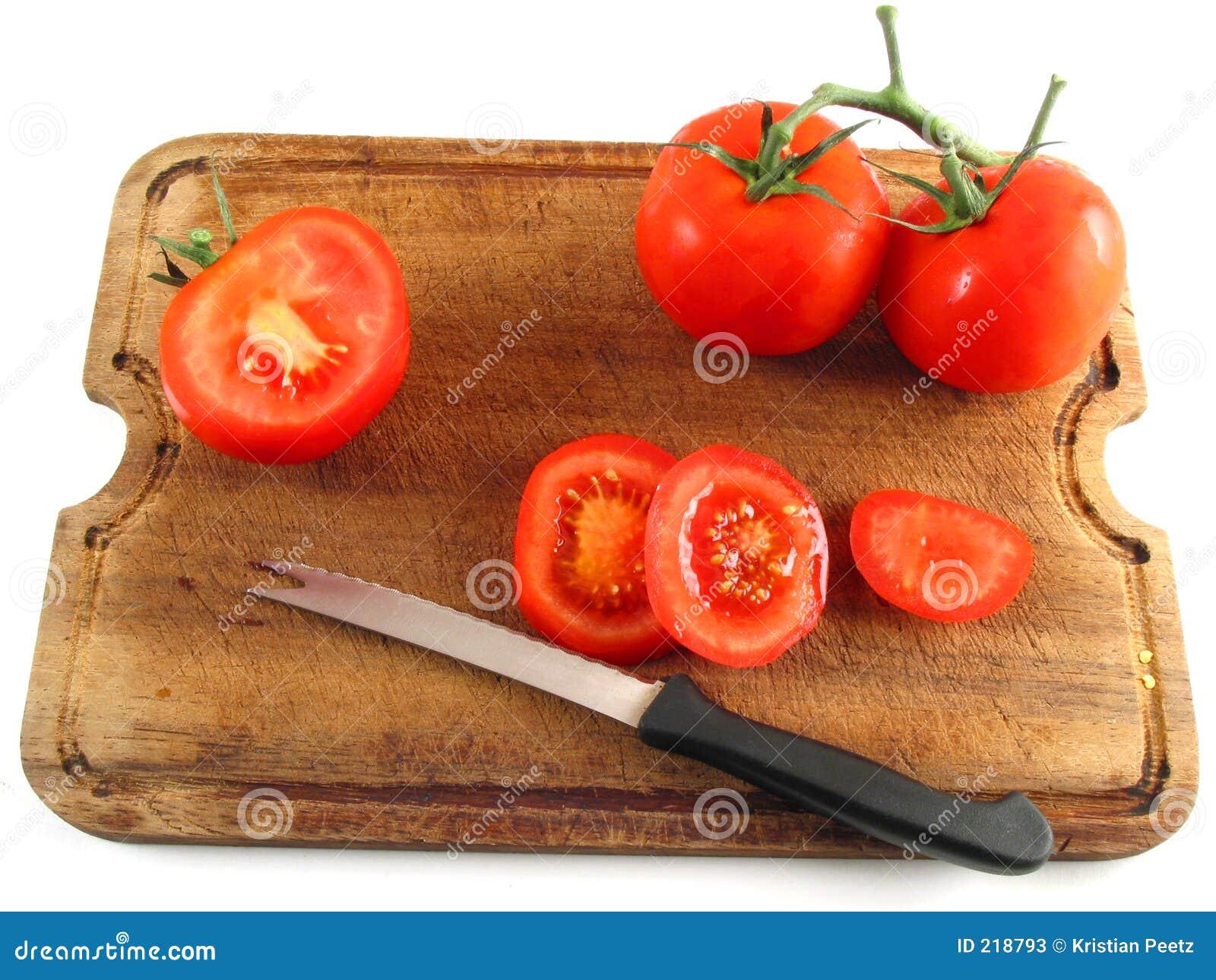 Rebanar los tomates imagen de archivo. Imagen de rebanada ...
