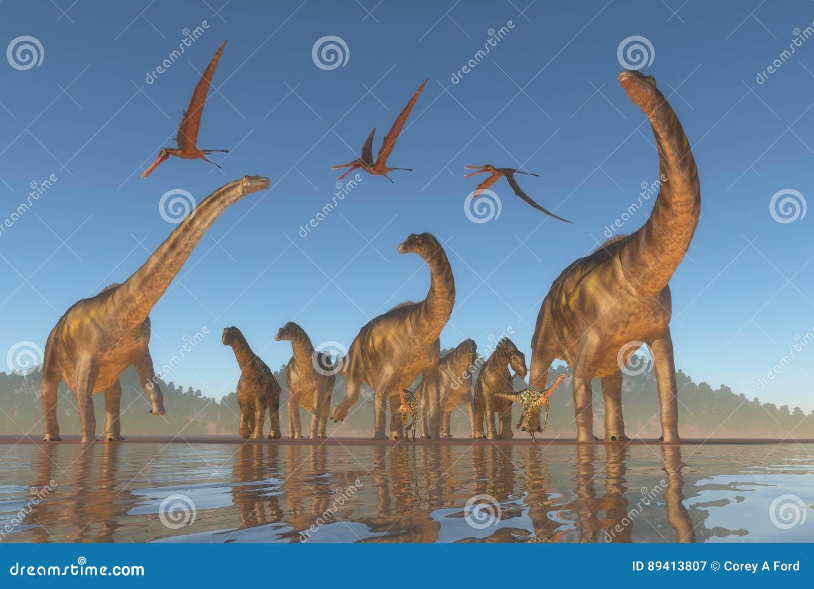 Rebanho cretáceo do Argentinosaurus