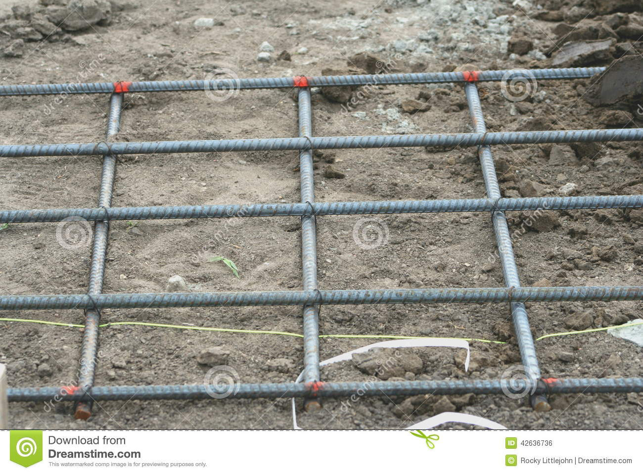 Rebar mat stock photo image 42636736 for How to read a foundation plan