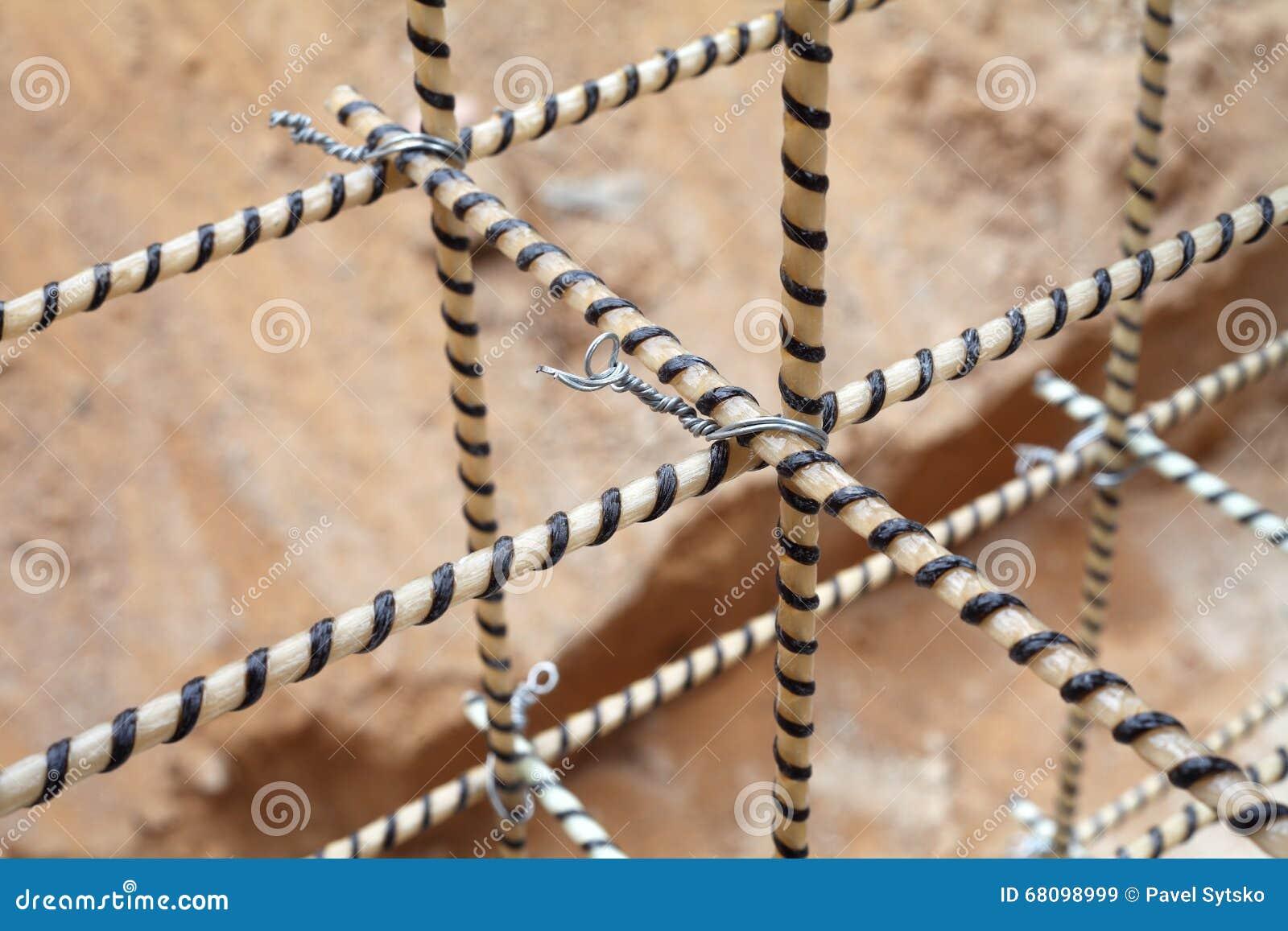 Rebars compuestos Refuerzo de la jaula Refuerzo de la fibra de vidrio