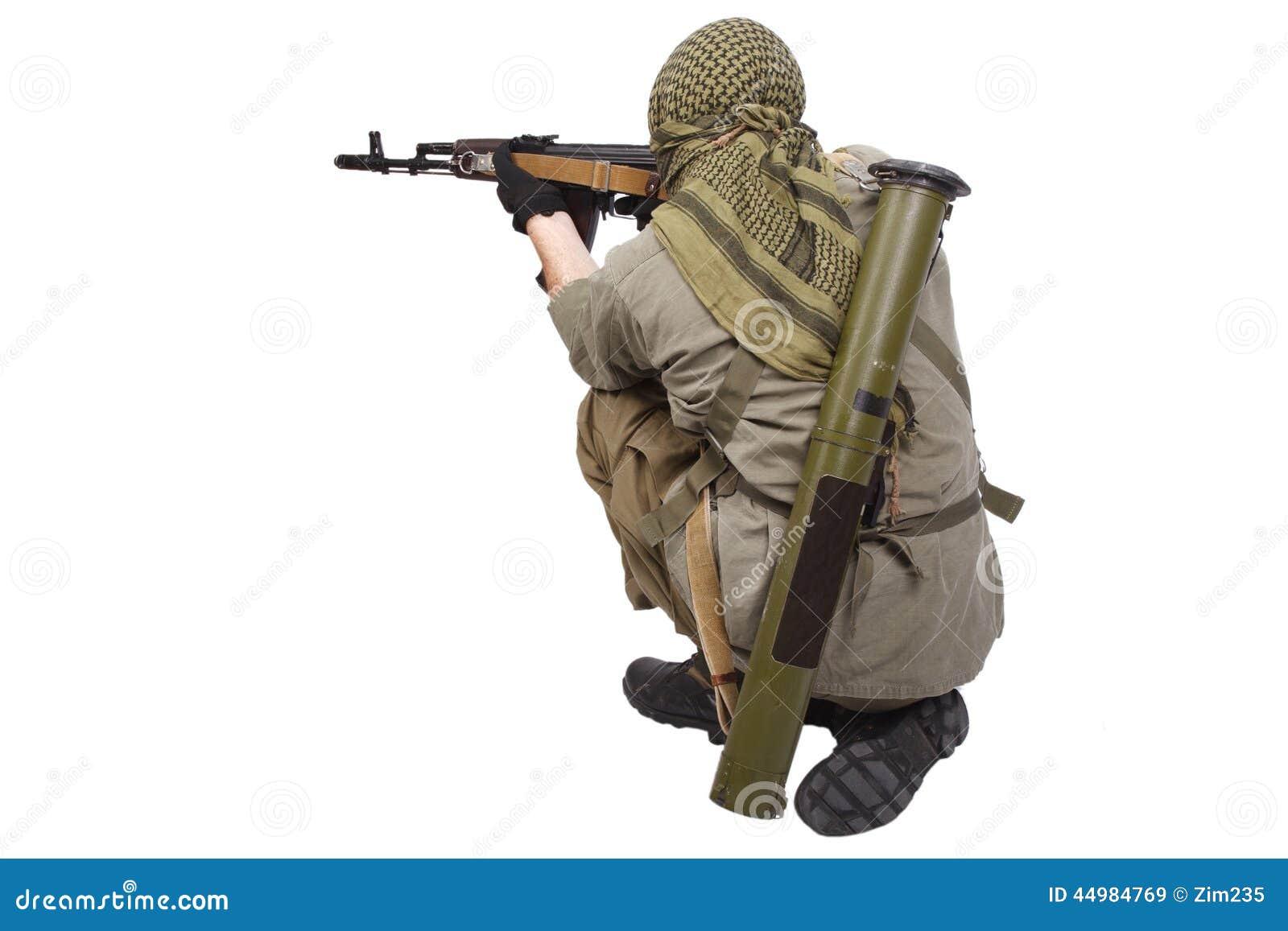 Rebell mit AK 47