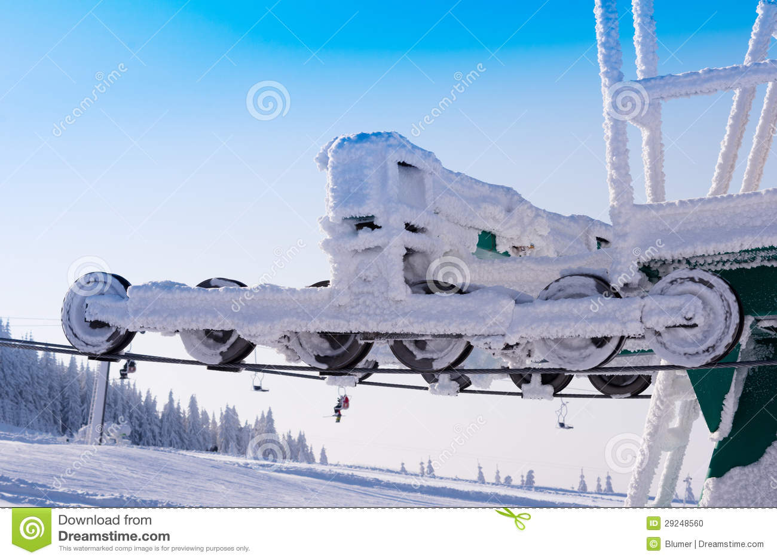 Download Reboque de esqui foto de stock. Imagem de curva, ártico - 29248560