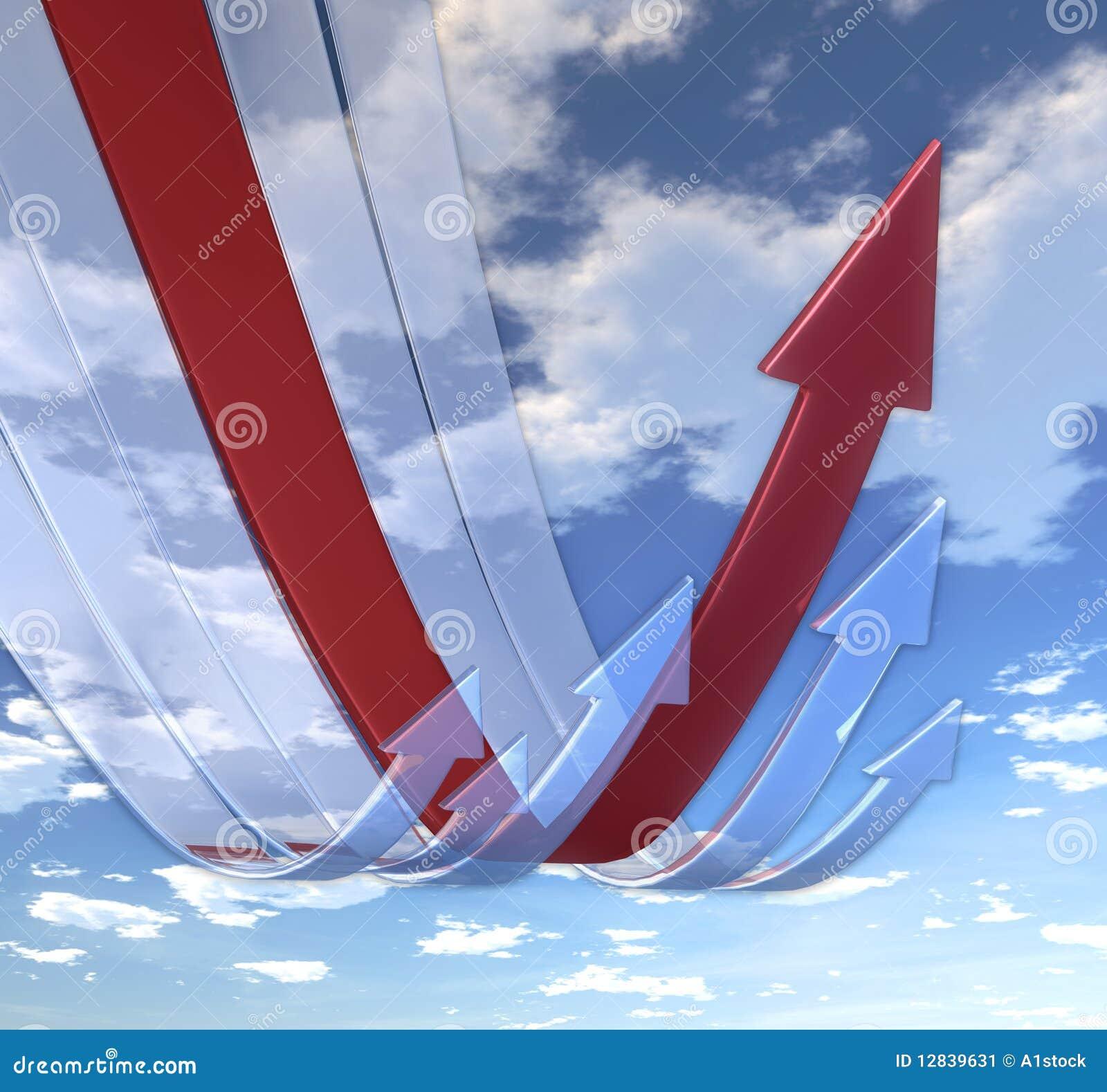 Rebounding red för pilar