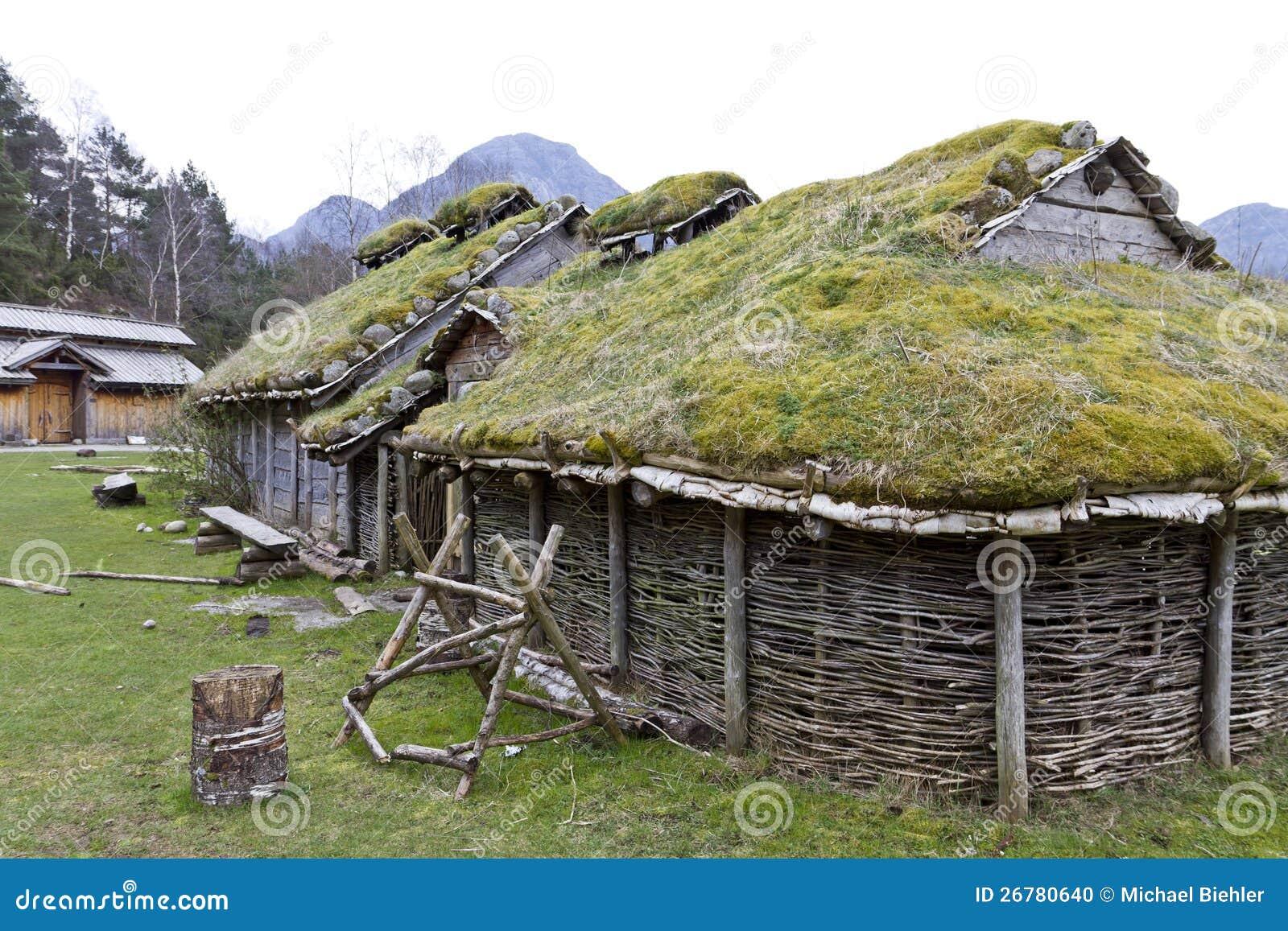 Rebuild Historic House In Norway Stock Photo Image 26780640