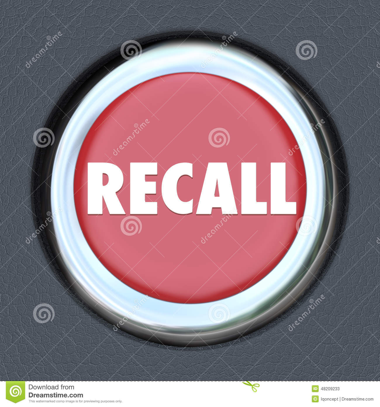 Recall Car Ignition Button Vehicle Repair Fix Defective