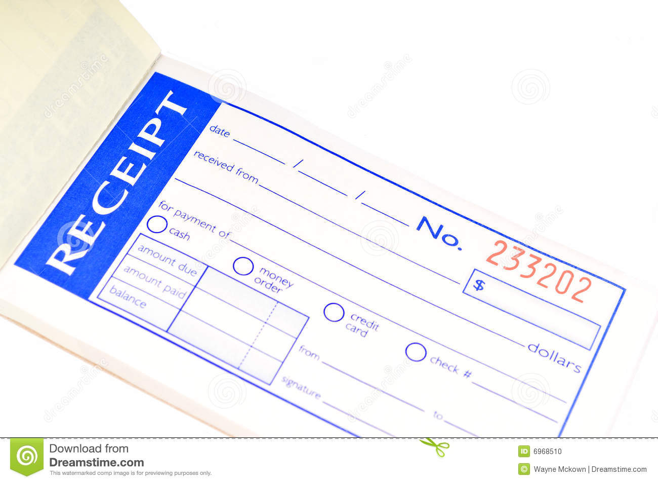 Receipt Book Photo Image 6968510 – Payment Receipt Book