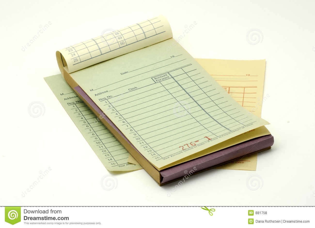 Receipt Book Stock Photo Image Of Retail Object Bill 881758 Receipt Book  881758 Royalty Free Stock  Free Receipt Book
