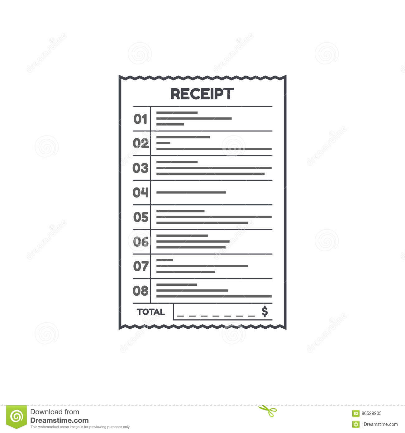 Bank check template icon graphic vector illustration for Bank draft template