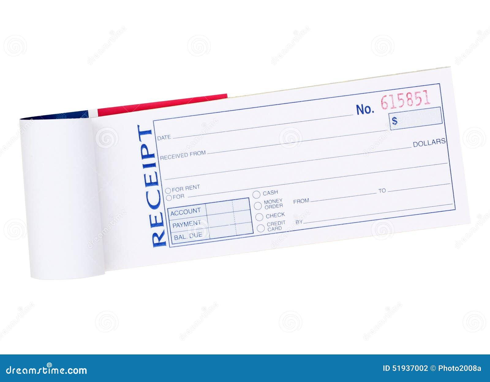 Receipt Pad Stock Photo - Image: 51937002