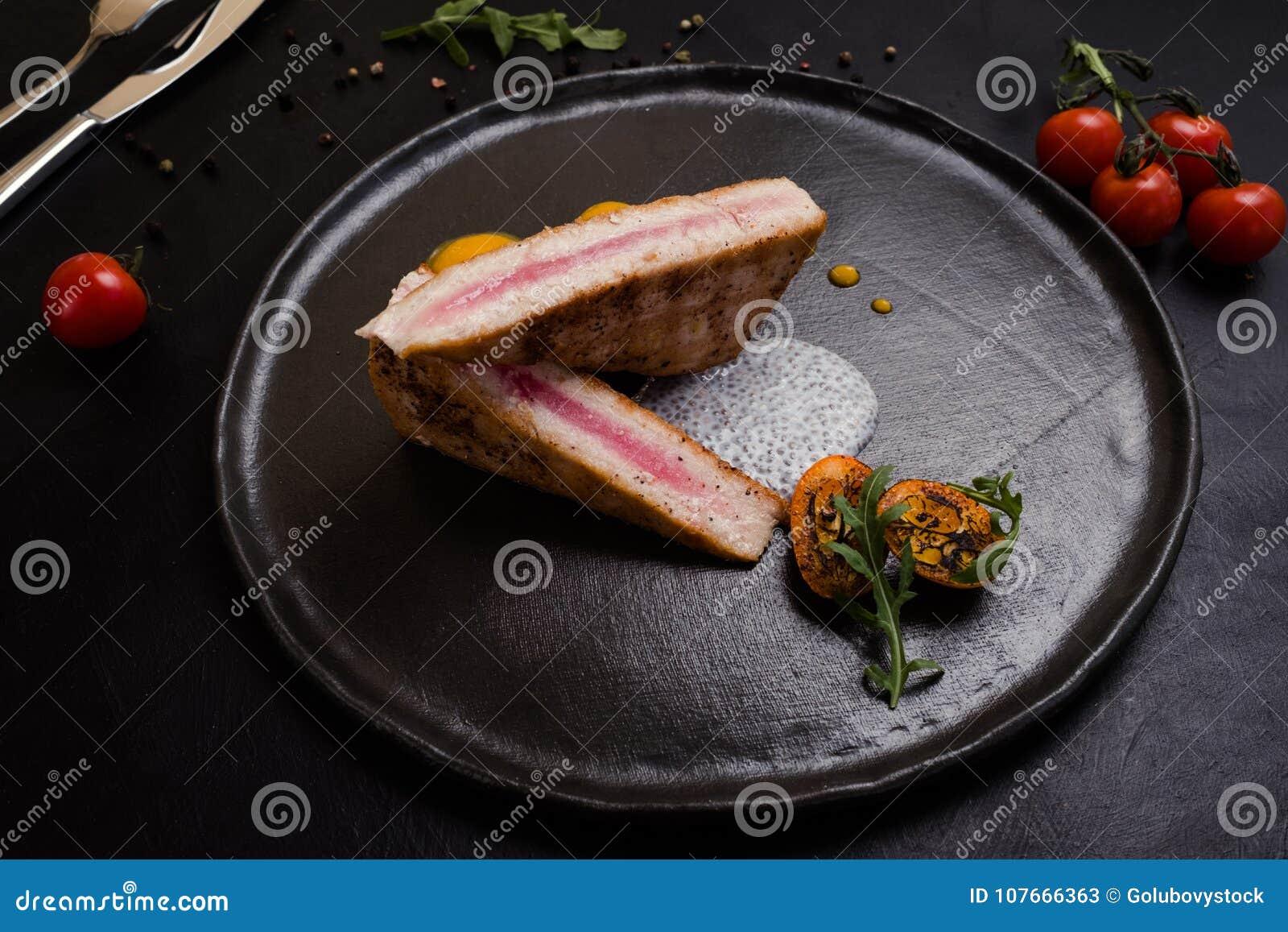 Receita culinária do restaurante cru do bife