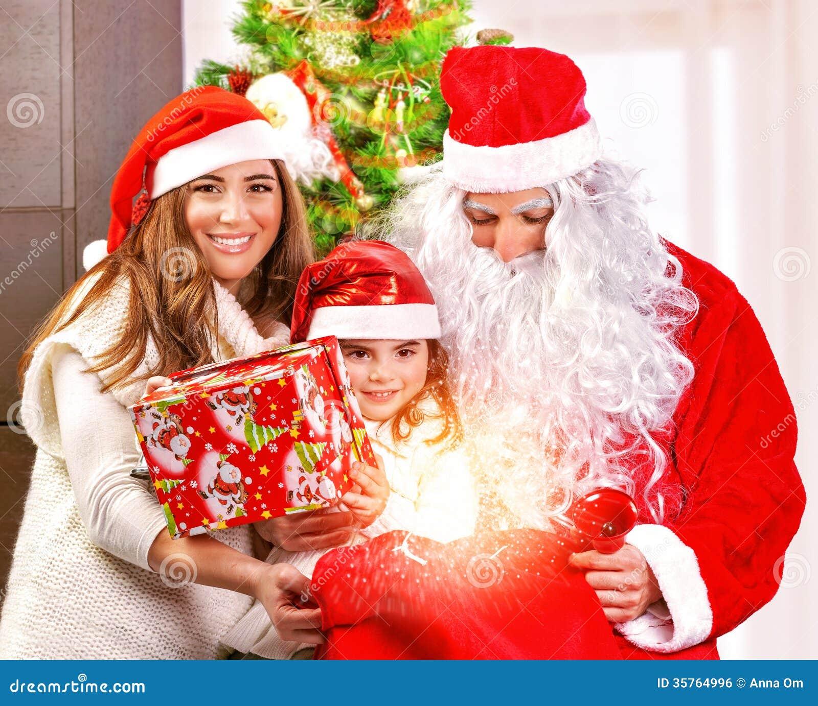 Receive Christmas Present Stock Photo Image Of Magic
