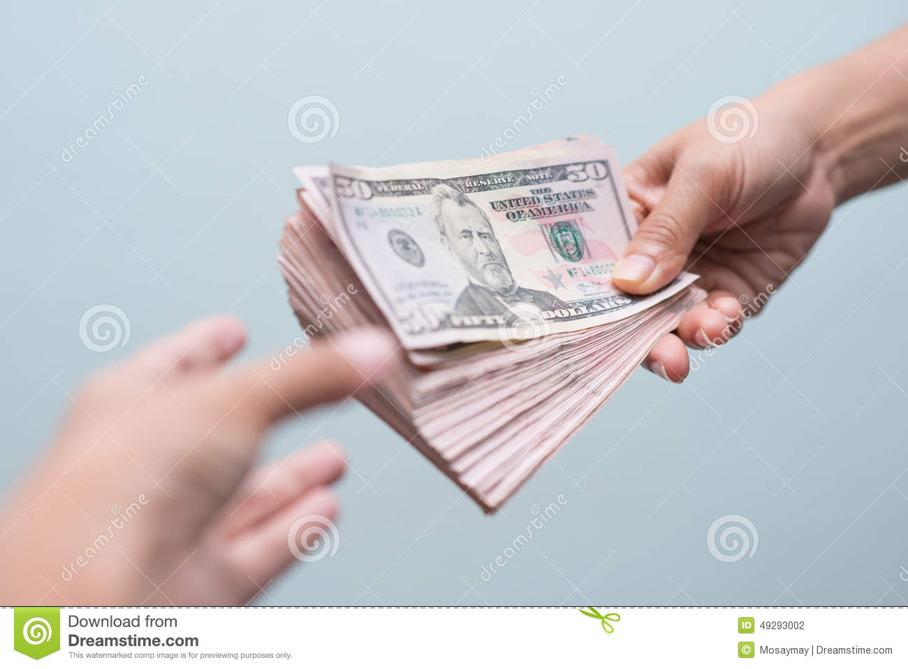 Receive money from customer