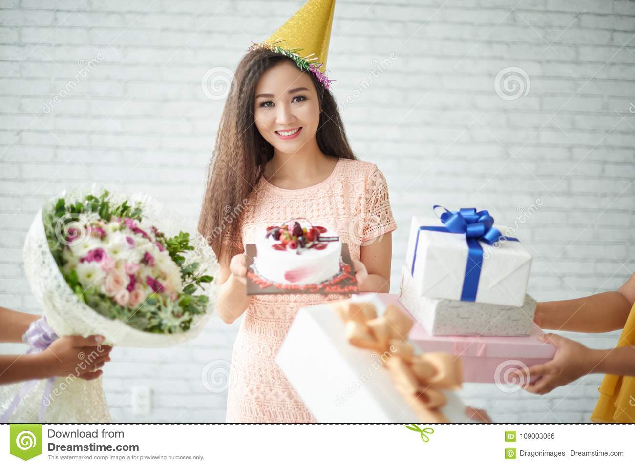 Receiving Birthday Gifts Stock Photo Image Of Party